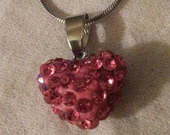 Red Crystal Heart Necce
