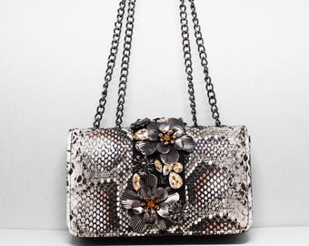 Crystal Embellished Shoulder Bag