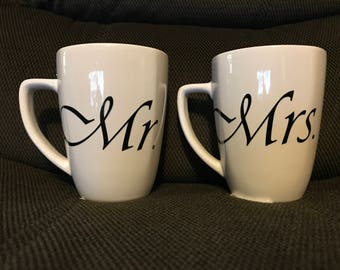 Mr. & Mrs. Coffee Cups