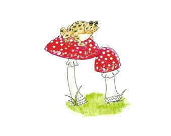 Toadstool Love Note Greeting Card