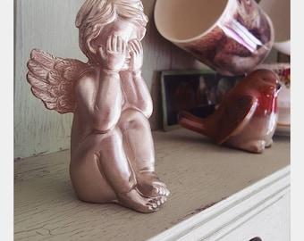 "Ornate ""Hiding Angel"" Display Piece"