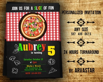 Pizza Party Invitation,Pizza Birthday Invitation,Pizza Party Invite,Italian Birthday Invitation,Chalkboard,Pizza Invitation