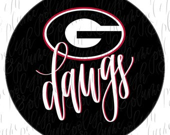 "University of Georgia Go Dawgs 3"" Game Day Buttons Pins"