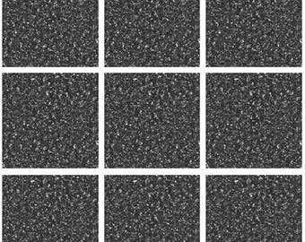 Pack of 10 black stone effect mosaic tile stickers transfers, with added gloss affect, just peel and stick, bathroom kitchen