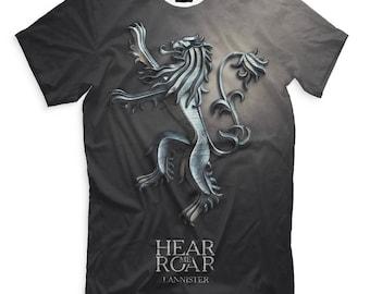 Game of Thrones Hear Me Roar Men's Women's House Lannister T-Shirt