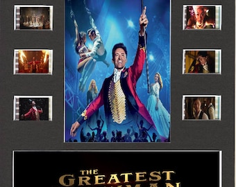 The Greatest Showman replica Film Cell Presentation 10 x 8 Mounted 10 cells
