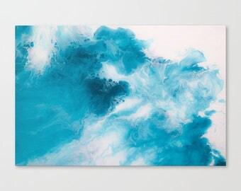 Original Abstract Wall Art Print, A2, A1, Home Decor, Interior, Blueberry
