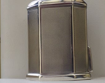 Rare vintage solid silver Quercia table lighter from the 40's