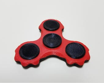 2-Tone Gear Style 3D Printed Fidget Spinner High Quality Made in USA In-Stock