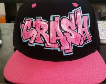 Custom graffiti style snapback hats