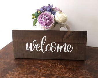 Welcome Wooden sign - Handmade - Country - Home Decor