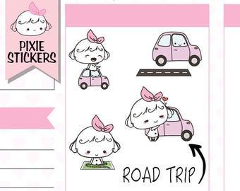 P149 | road trip planner stickers,road trip stickers,car stickers,,driving stickers,travel stickers,adventure stickers,roadtrip stickers