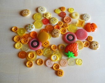 Buttons yellow and orange