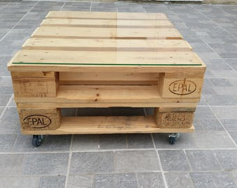 Table industrial low half two pallets