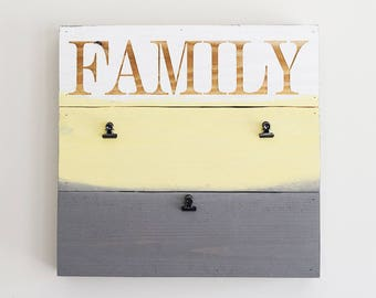 Engraved Pallet Wood Sign- Family Picture Frame | Note Board | Gift | Grocery List | Recycled | Sustainable | Eco Friendly | Wall Hanging