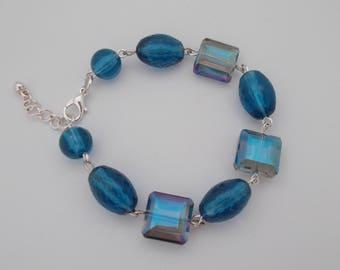 Blue Linked Bracelet.