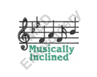 Music - Machine Embroidery Design, Music Notes, Musically Inclined