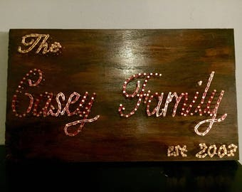 Family Name String Art Wall Decor