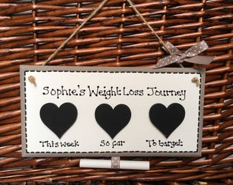 Personalised Weigh Loss Plaque