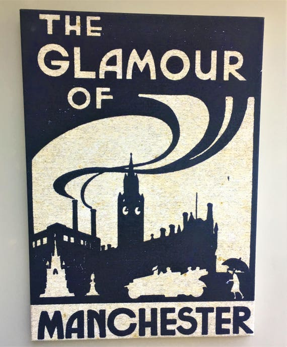 The Glamour of Manchester canvas print SOLD OUT