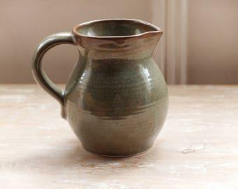 Green Prinknash Pottery Milk Jug