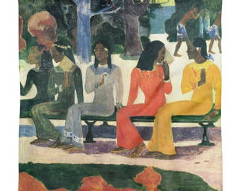 Paul Gauguin, The Market - Square Pillow Case only