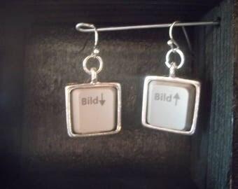 Keyboard keys earrings