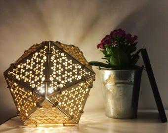 Interior design lamp. Cut laser.