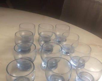 Set of 12 vintage shot glasses