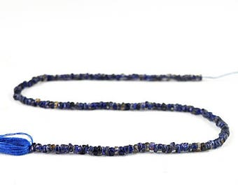 "Flat 50% OFF Round Shape Blue Tanzanite Strand of 13"" Inches"