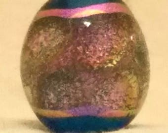 Vic's Glass Creations - In The Pink - handmade lampwork dichroic focal bead set - SRA
