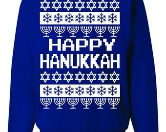 Happy Hanukkah Ugly Christmas Sweater
