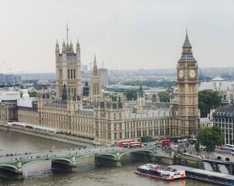 Big Ben, London, England, Color Photo, Wall Art, Scenic Photography, Travel Decor