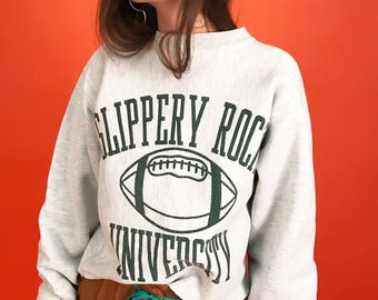 Cropped Champion varsity sweatshirt M/L