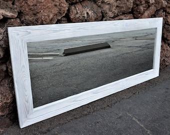 White mirror/ floor mirror/ full length mirror/ bathroom mirrors/wall mirrors