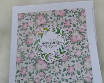 Simple, individual wedding card, ideal for any kind of celebration.