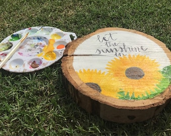 "Homemade Wood Sign ""Let the Sunshine In"""