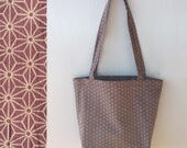 Cotton tote bag, Casual tote bag, Shopping bag, Shoulder Bag, Fasion tote bag, Ecobag, Japanese tote bag, Cloth bag, Kimono pattern bag
