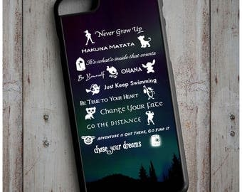 Classic Walt Disney Movie Quotes New Case Cover for any iPhone
