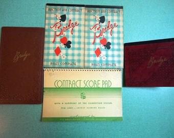 Vintage Bridge Card Game Score Pads,Vintage Bridge,Vintage Game,Vintage Game Score Pad