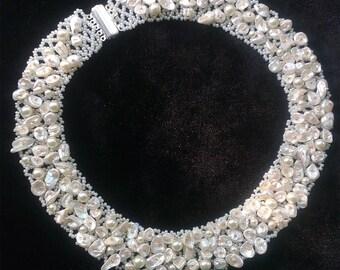 Necklace Keshi ivory