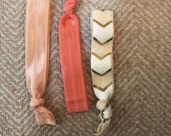 Neutral Trio Hair Elastic Hair Ties