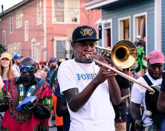 TRC Brass Band /  New Orleans Music Photography Giclee Print