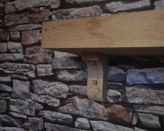 Oak Medium Thickness Shelves With Corbels