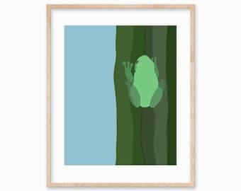 Frog Art Print Illustration