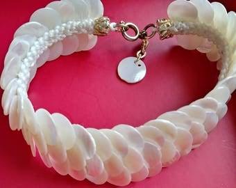 Vintage mother of pearl bracelet