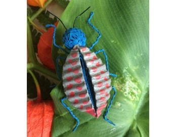 Insect painted cardboard