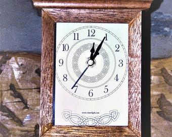 Clock, Mantel made from beech
