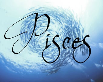 Pisces Name Decal