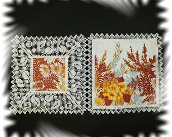FSL. Machine embroidery border for napkins.